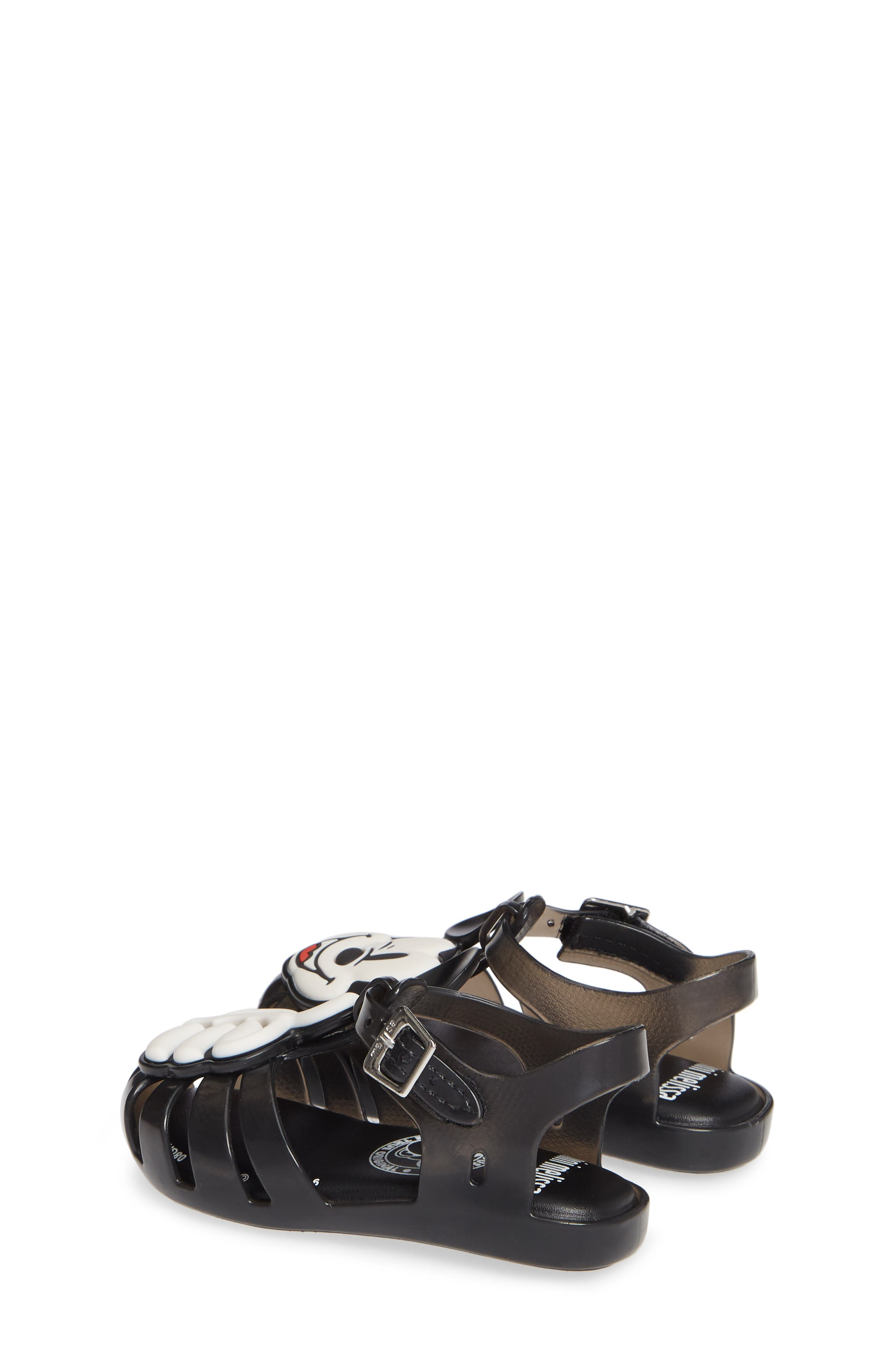 ,                             Aranha + Mickey Fisherman Sandal,                             Alternate thumbnail 3, color,                             BLACK