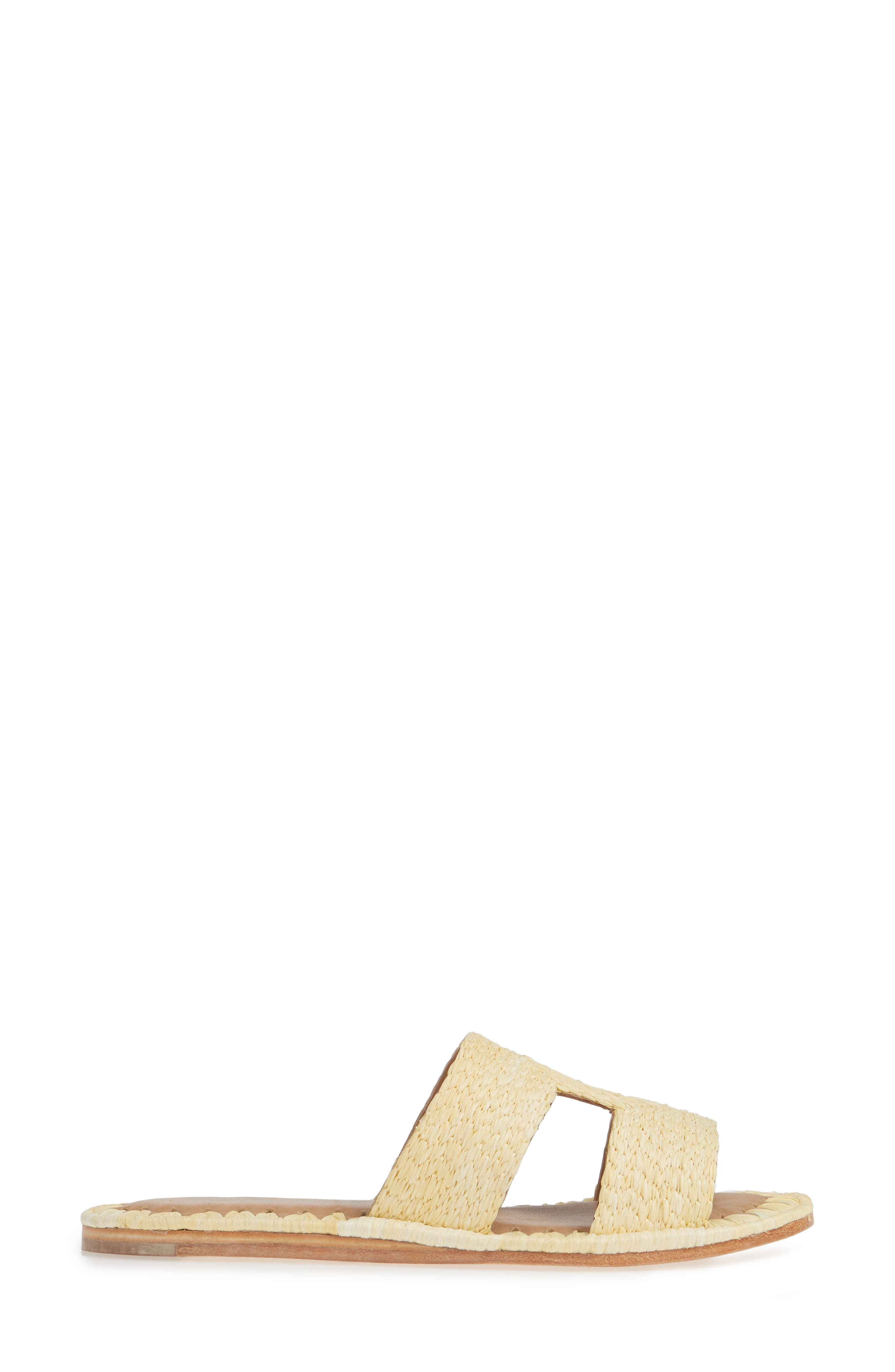 ,                             Ernon Raffia Slide Sandal,                             Alternate thumbnail 3, color,                             NATURAL