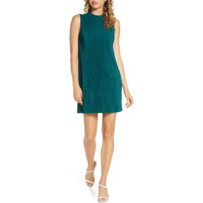 Bb Dakota As You Pleats Plisse Minidress, Green