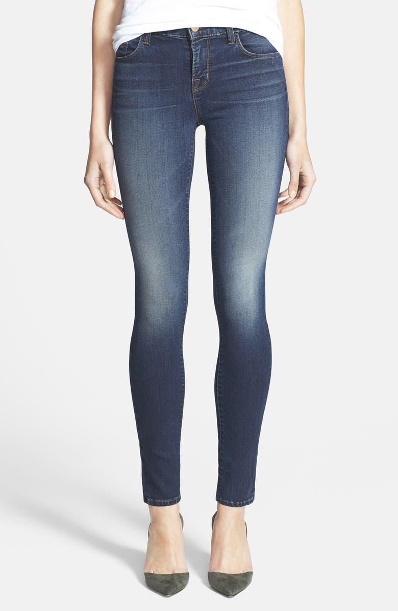 J BRAND '8112 Mid Rise Rail' Skinny Jeans, Main, color, 400