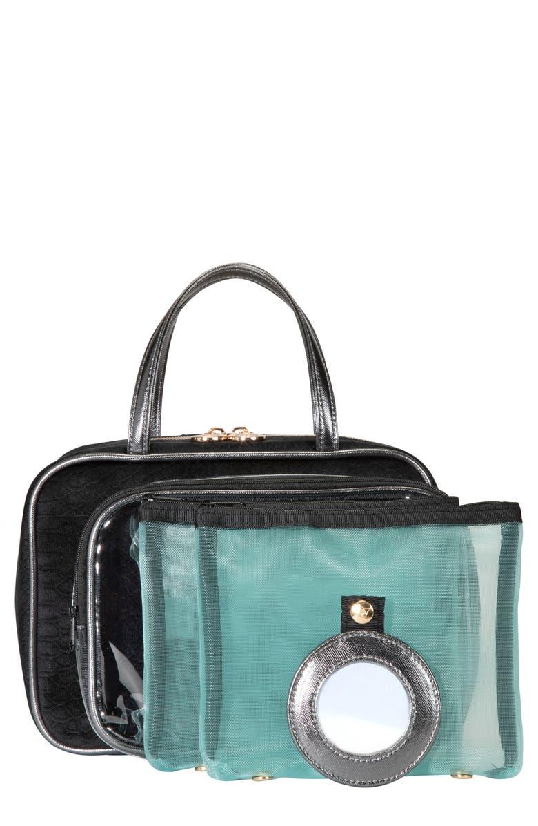 STEPHANIE JOHNSON Noir Marais ML Traveler Cosmetics Case, Main, color, NO COLOR