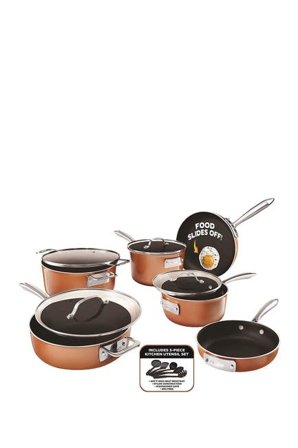 Image of Gotham Steel Stackmaster Non-Stick Space Saving Cookware 15-Piece Set