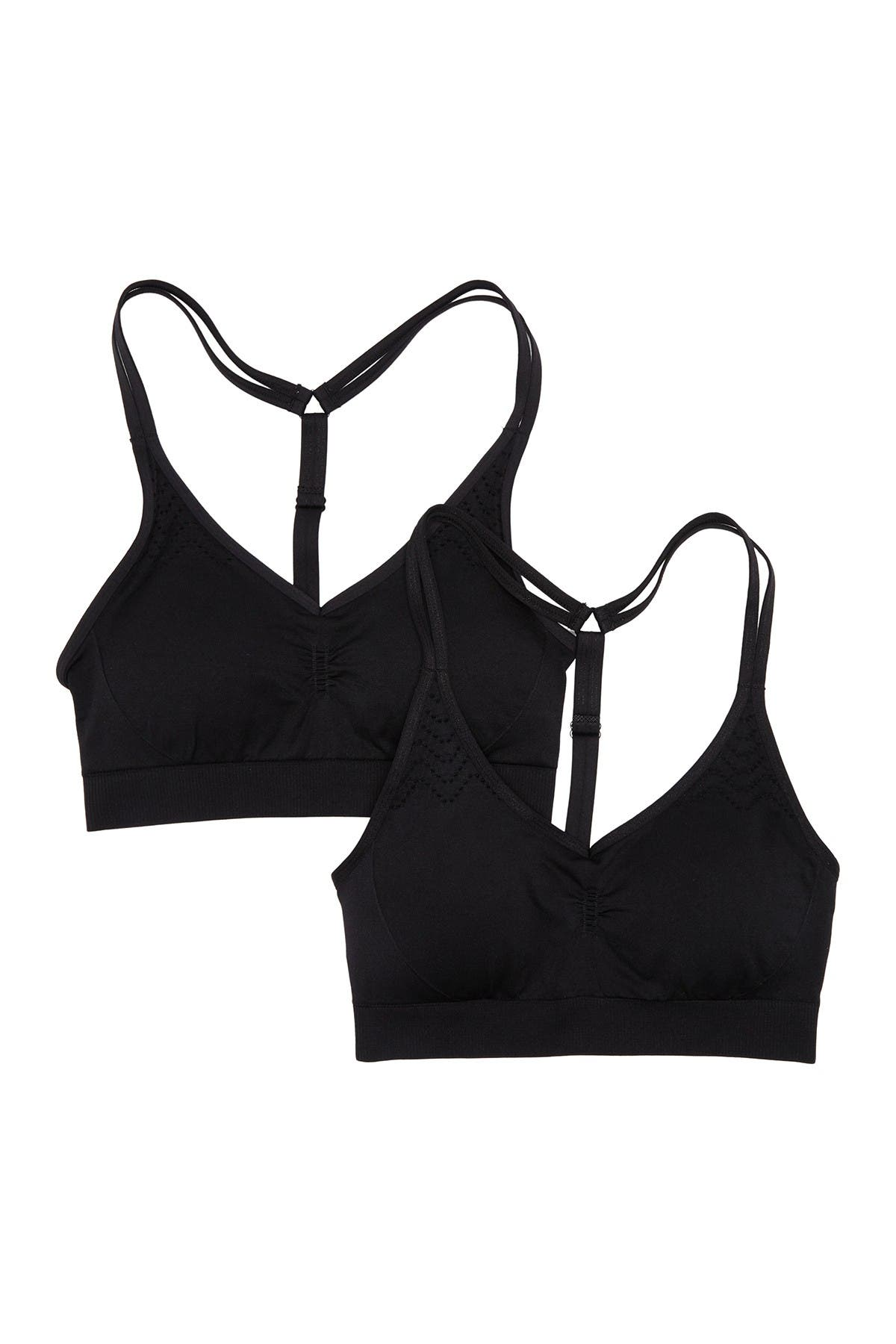 Image of 90 Degree By Reflex Strappy Racerback Sports Bra - Pack of 2
