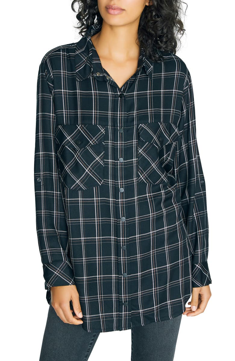 SANCTUARY Main St. Boyfriend Tunic Top, Main, color, INCLUSIVE PLAID