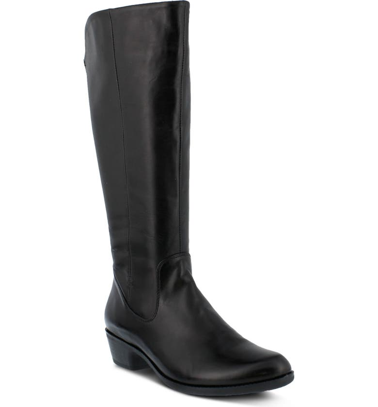 SPRING STEP Bolah Tall Boot, Main, color, BLACK LEATHER