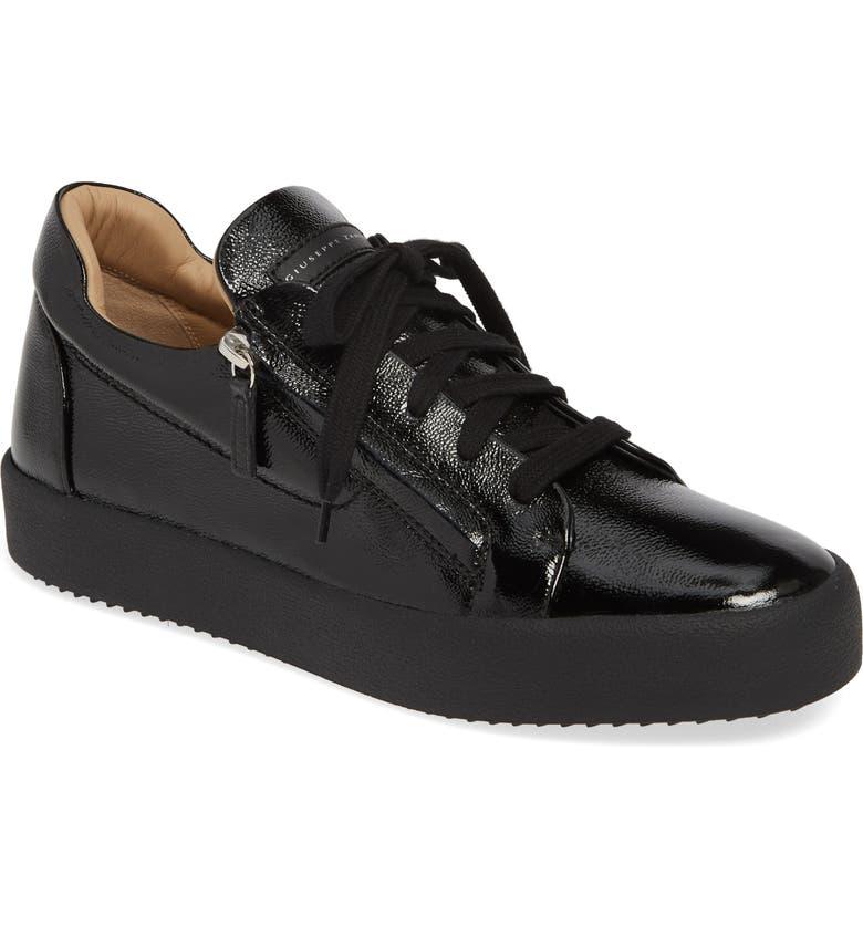 GIUSEPPE ZANOTTI Low Top Sneaker, Main, color, NERO