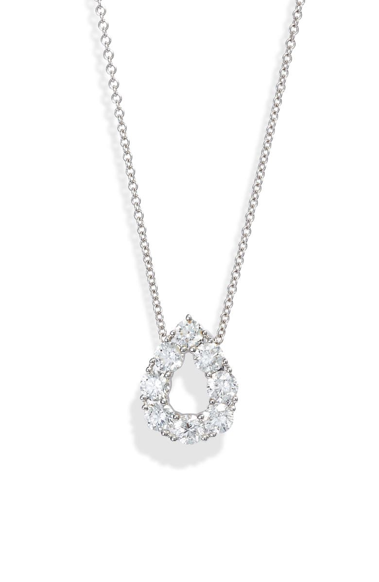 BONY LEVY Diamond Teardrop Pendant Necklace, Main, color, WHITE GOLD/ DIAMOND