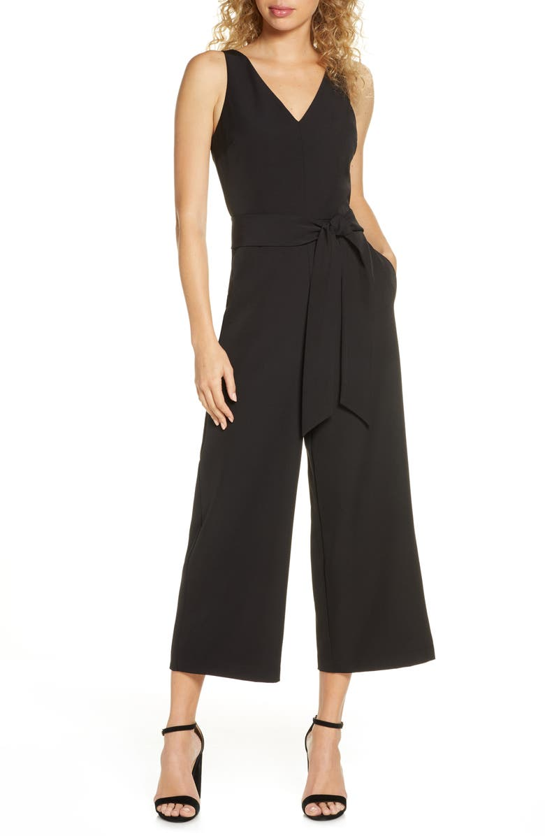 SAM EDELMAN Wide Leg Jumpsuit, Main, color, BLACK