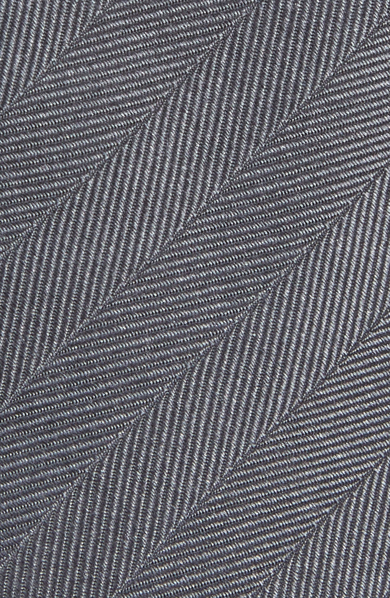 ,                             Herringbone Vow Silk Tie,                             Alternate thumbnail 2, color,                             CHARCOAL