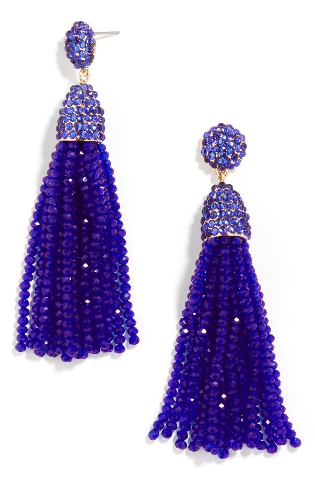 ,                             'Nynette' Tassel Drop Earrings,                             Main thumbnail 9, color,                             430