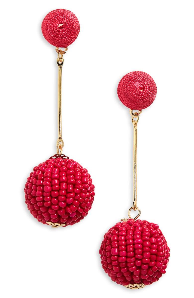 BP. Beaded Bauble Drop Earrings, Main, color, 710