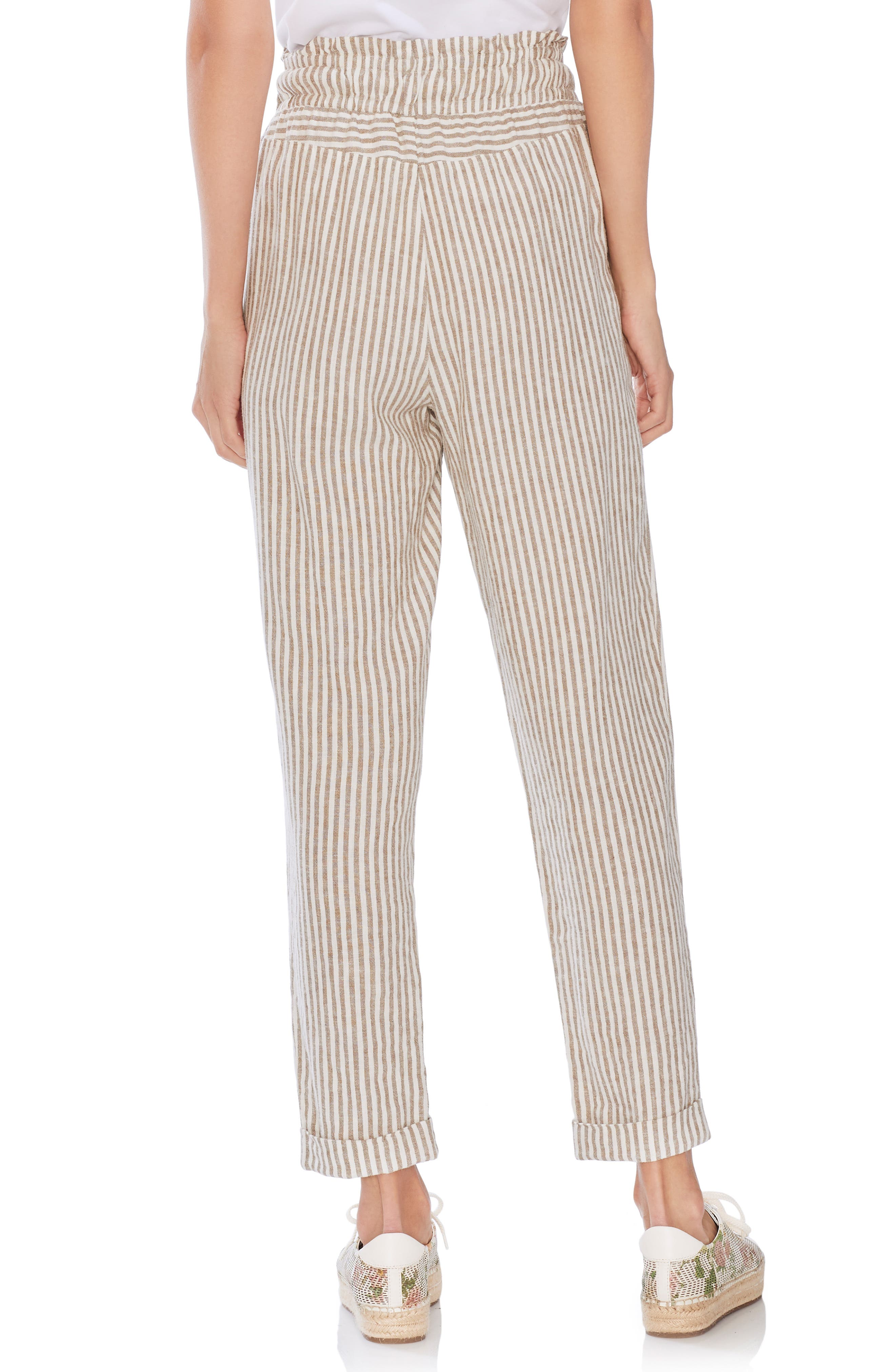 ,                             Drawstring Stripe Pants,                             Alternate thumbnail 2, color,                             NATURAL