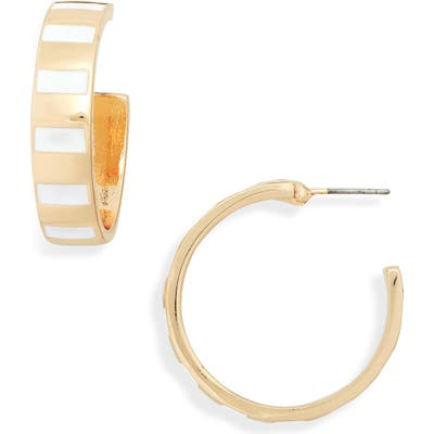 Bp. Enamel Stripe Hoop Earrings