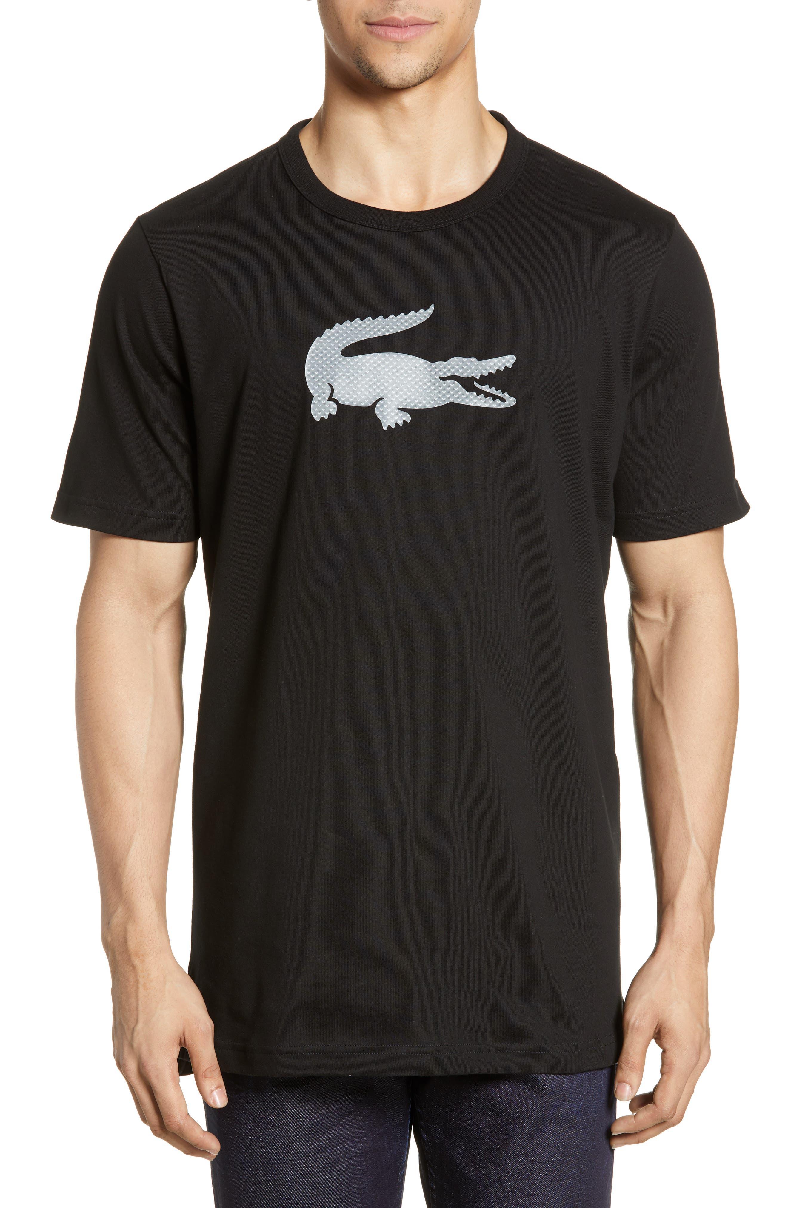 Premium Transfer Logo T-Shirt, Main, color, BLACK