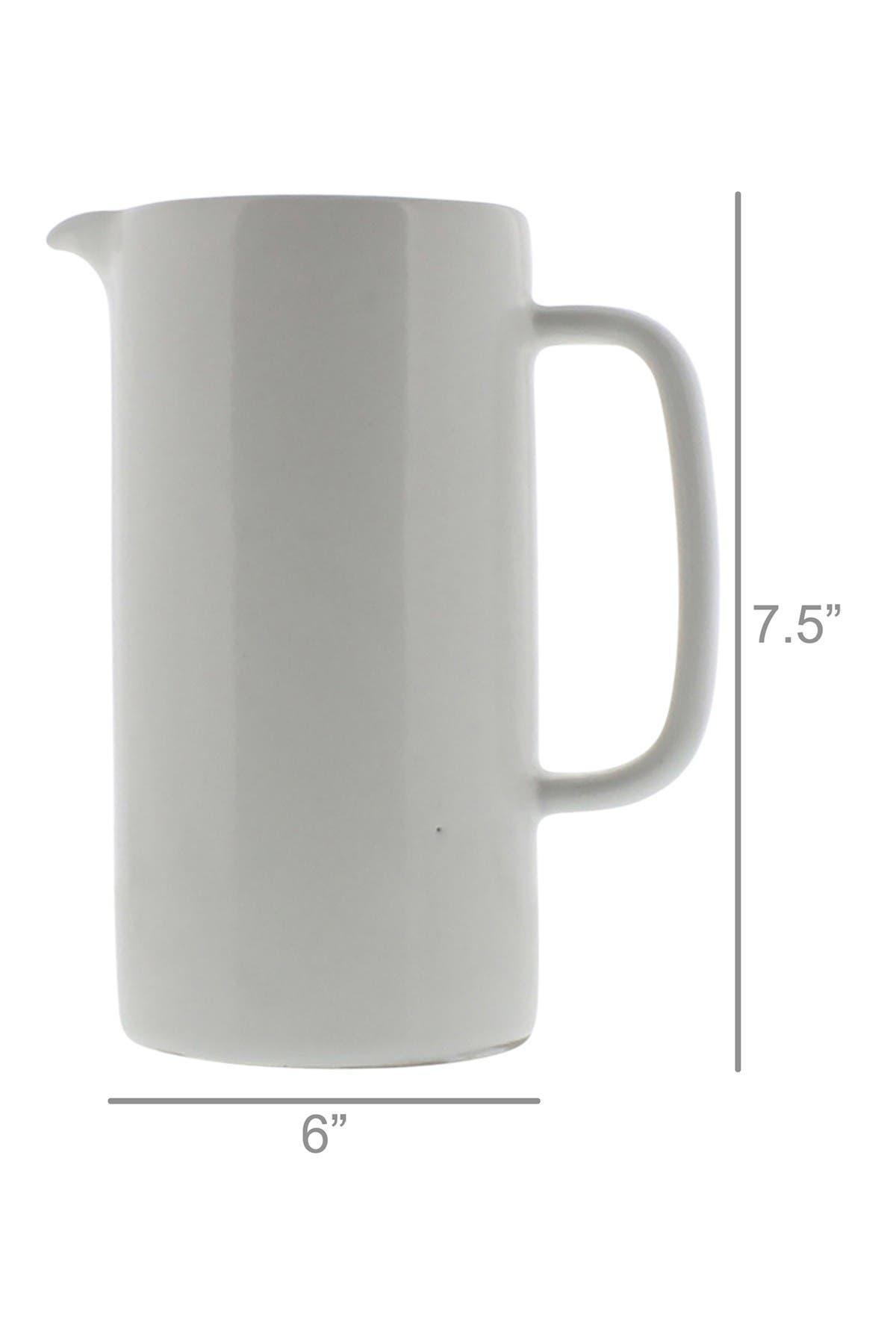 Image of HOMART Liam Large Ceramic Pitcher - White Glaze
