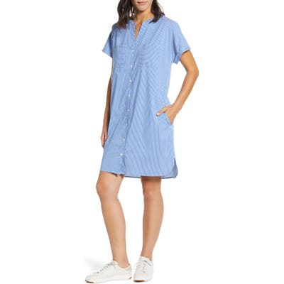 Tommy Bahama Beach You To It Cotton Blend Shirtdress, Blue