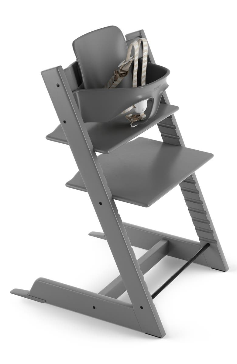 STOKKE Tripp Trapp<sup>®</sup> Highchair & Baby Set, Main, color, STORM GREY