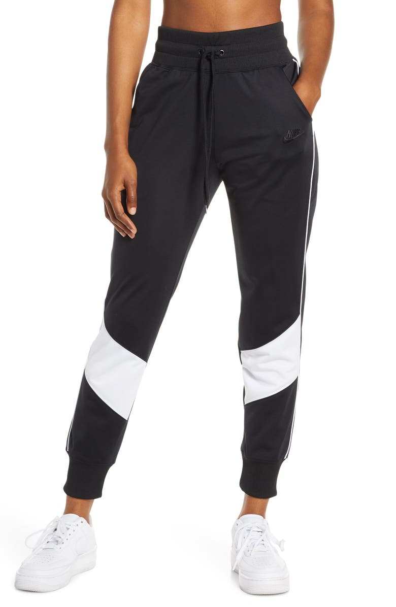 NIKE Sportswear Heritage Track Pants, Main, color, BLACK/ WHITE/ WHITE