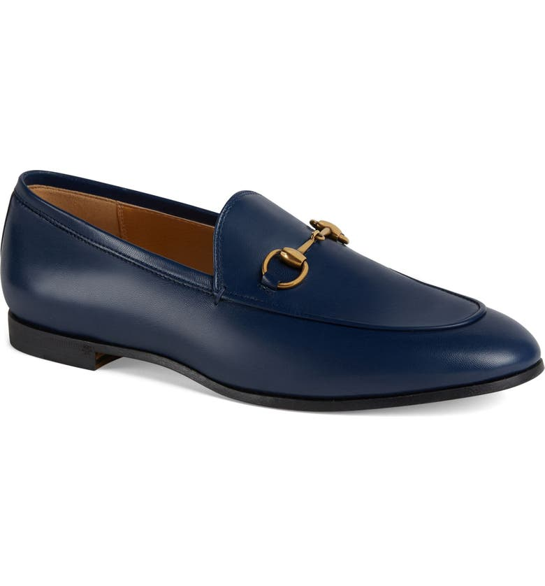 GUCCI Jordaan Bit Loafer, Main, color, BLUE AGATA