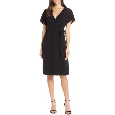 Charles Henry Wrap Dress, Black