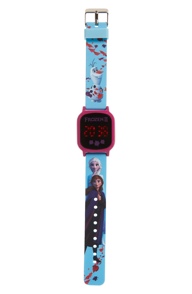 ACCUTIME Disney Frozen LED Watch, Main, color, FROZEN BLUE MULTI