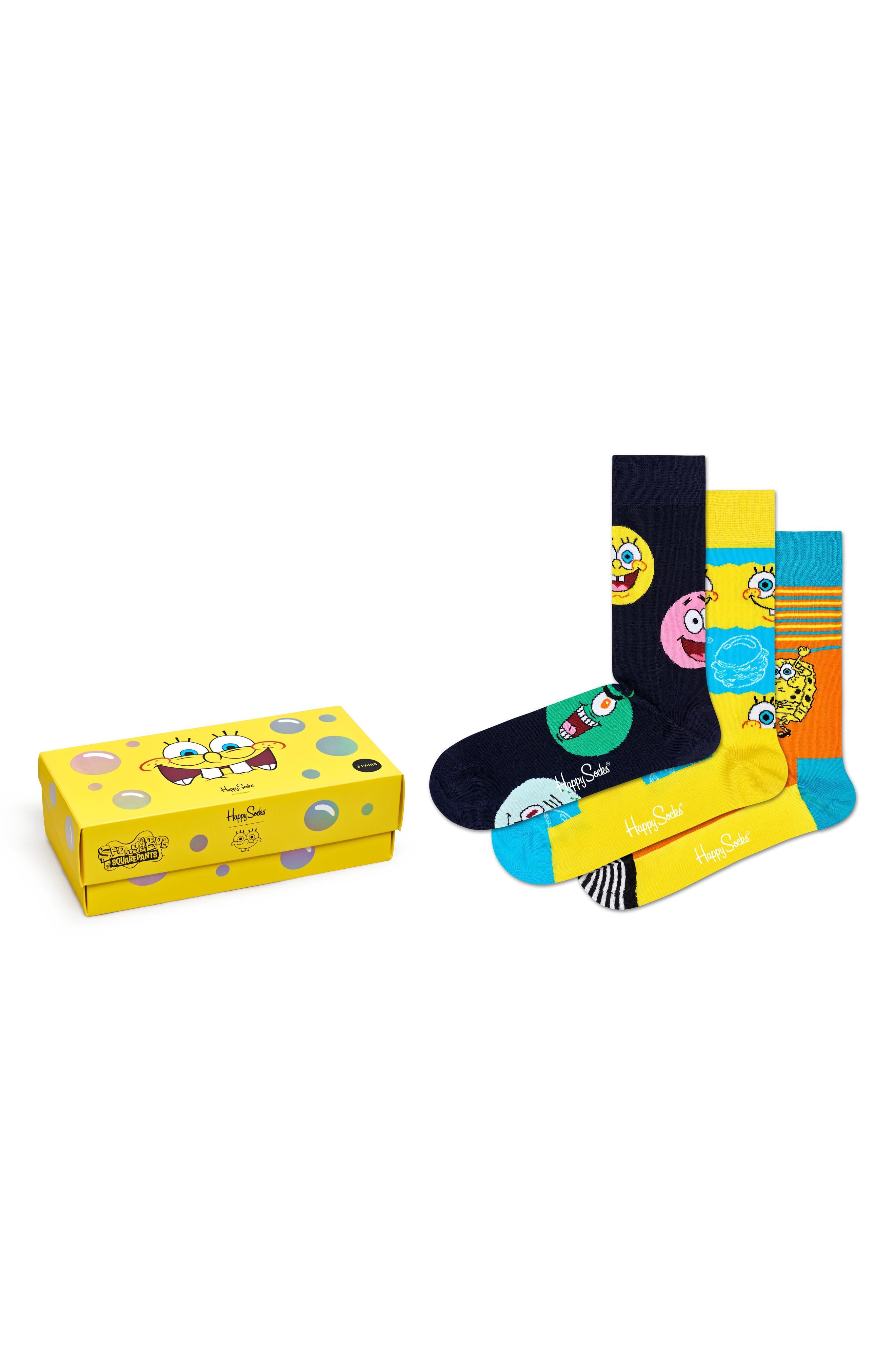 X Spongebob 3-Pack Socks