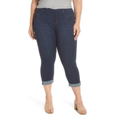 Plus Size Liverpool Sienna Pull-On Denim Capri Pants