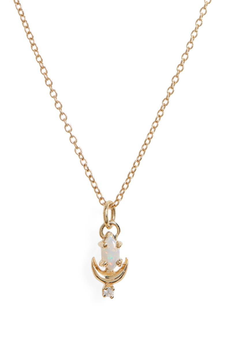 SOFIA ZAKIA LVNA Opal & Diamond Necklace, Main, color, GOLD