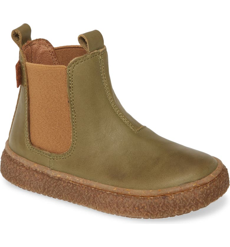 NATURINO Figus Chelsea Boot, Main, color, KHAKI GREEN LEATHER