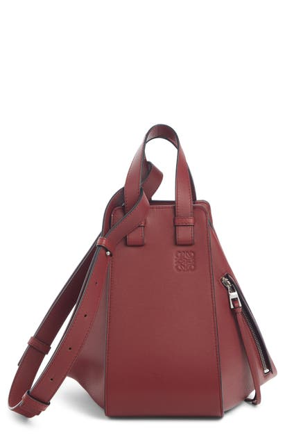 Loewe Bags SMALL HAMMOCK LEATHER HOBO - BURGUNDY