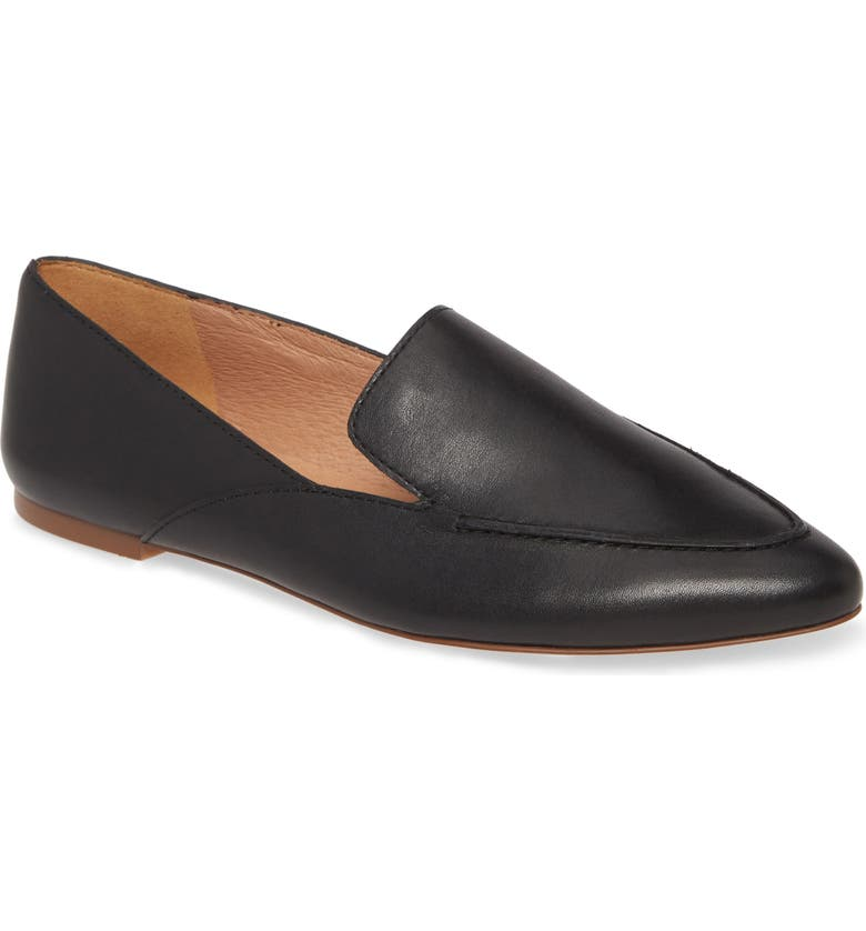 MADEWELL The Ian Skimmer Flat, Main, color, BLACK LEATHER
