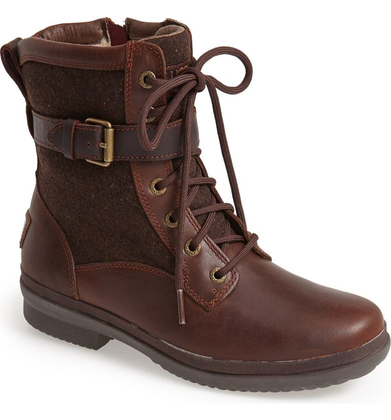 UGG<SUP>®</SUP> Kesey Waterproof Boot, Main, color, CHESTNUT