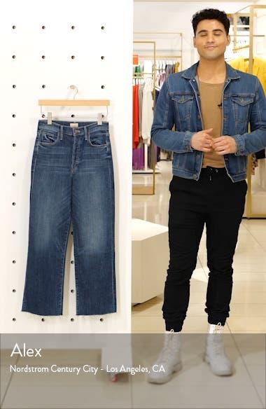 The Rambler High Waist Fray Wide Leg Jeans, sales video thumbnail