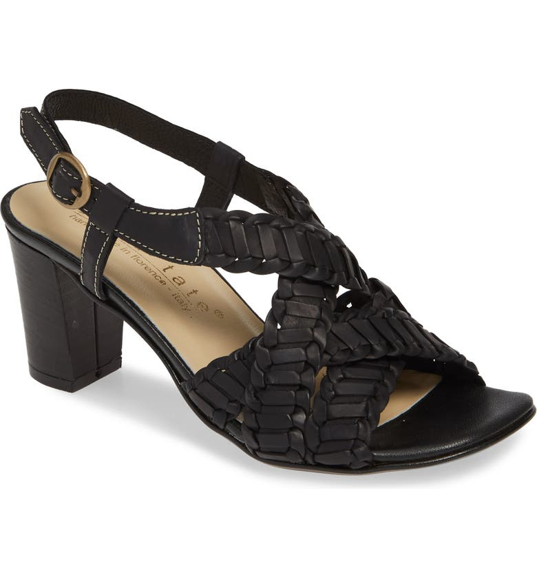DAVID TATE Amarone Sandal, Main, color, BLACK LEATHER