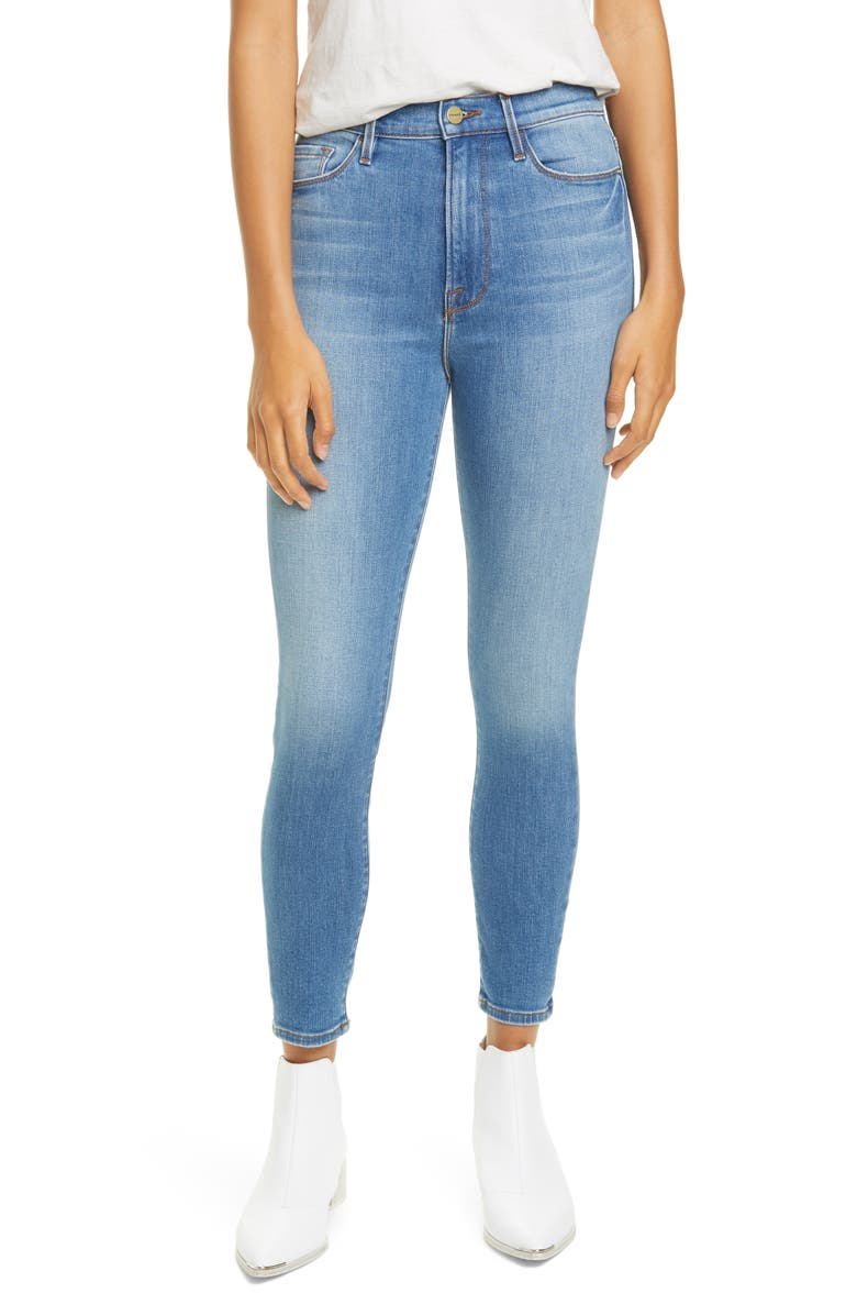 FRAME Ali High Waist Crop Skinny Jeans, Main, color, LASKEY
