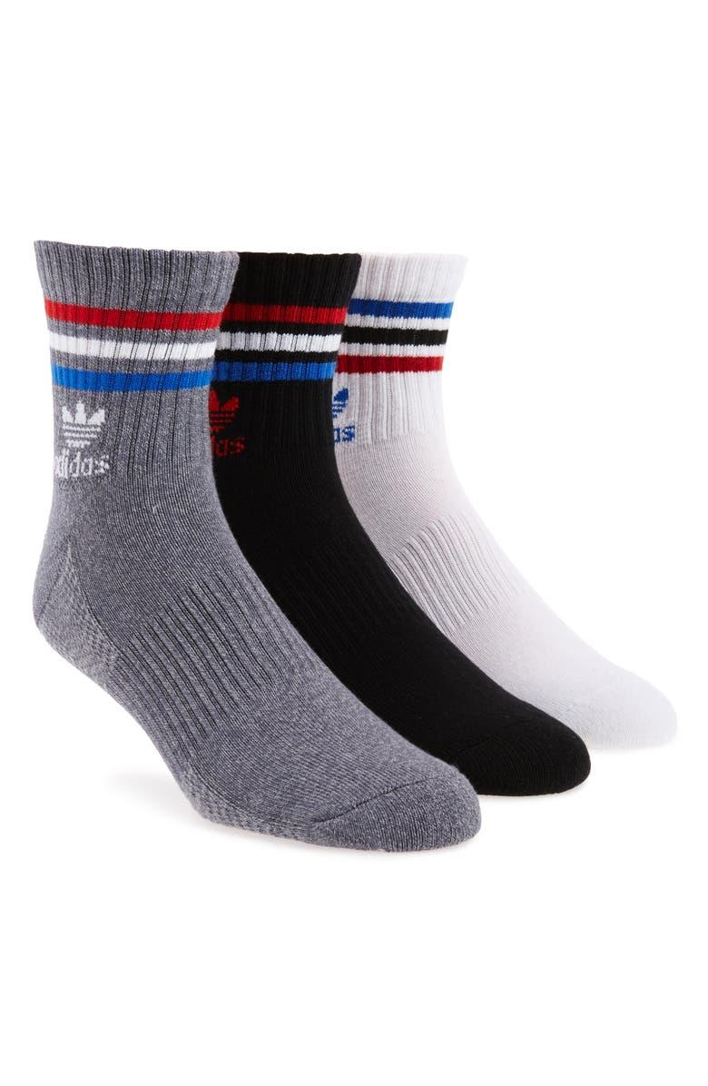 ADIDAS ORIGINALS 3-Pack Quarter Crew Socks, Main, color, 102