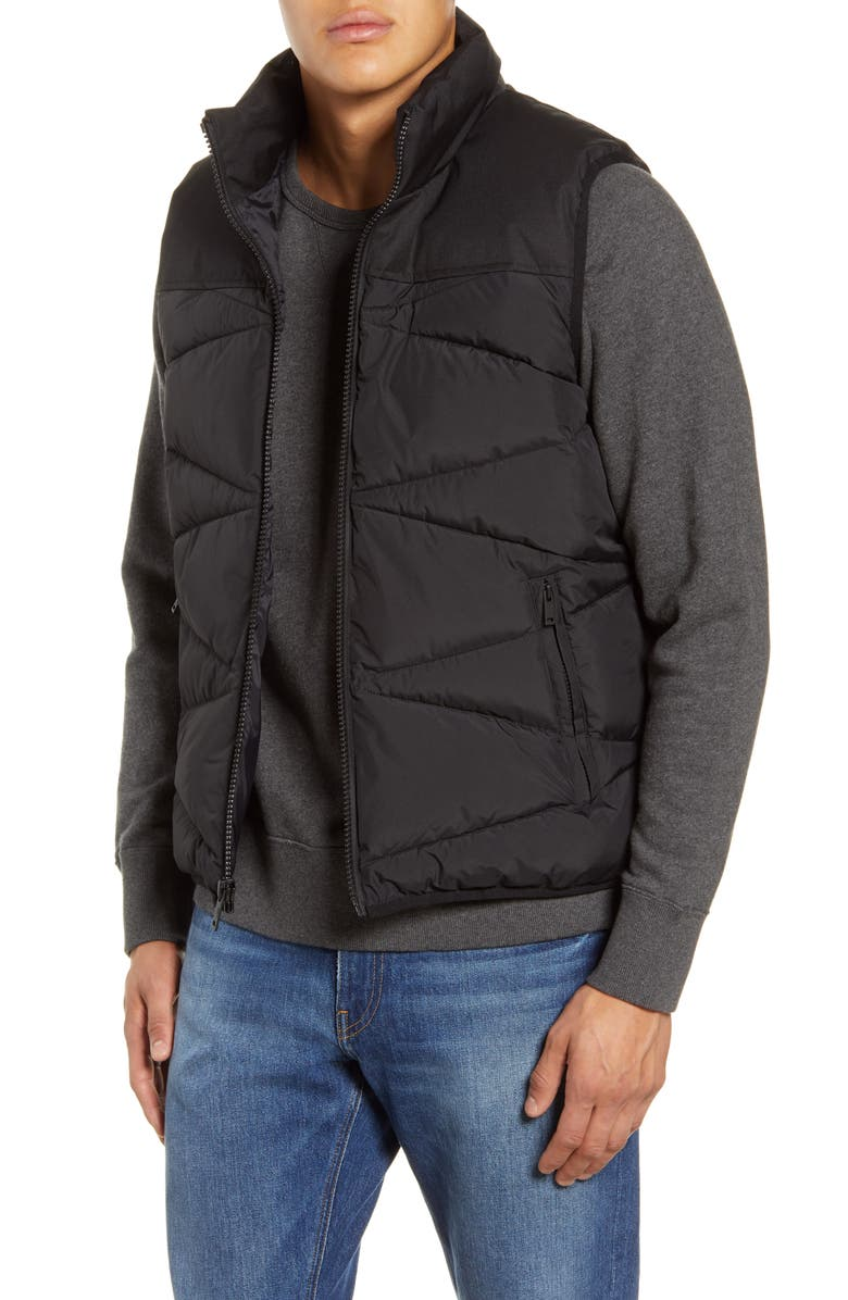 UGG<SUP>®</SUP> Curtis Water Resistant Puffer Vest, Main, color, BLACK