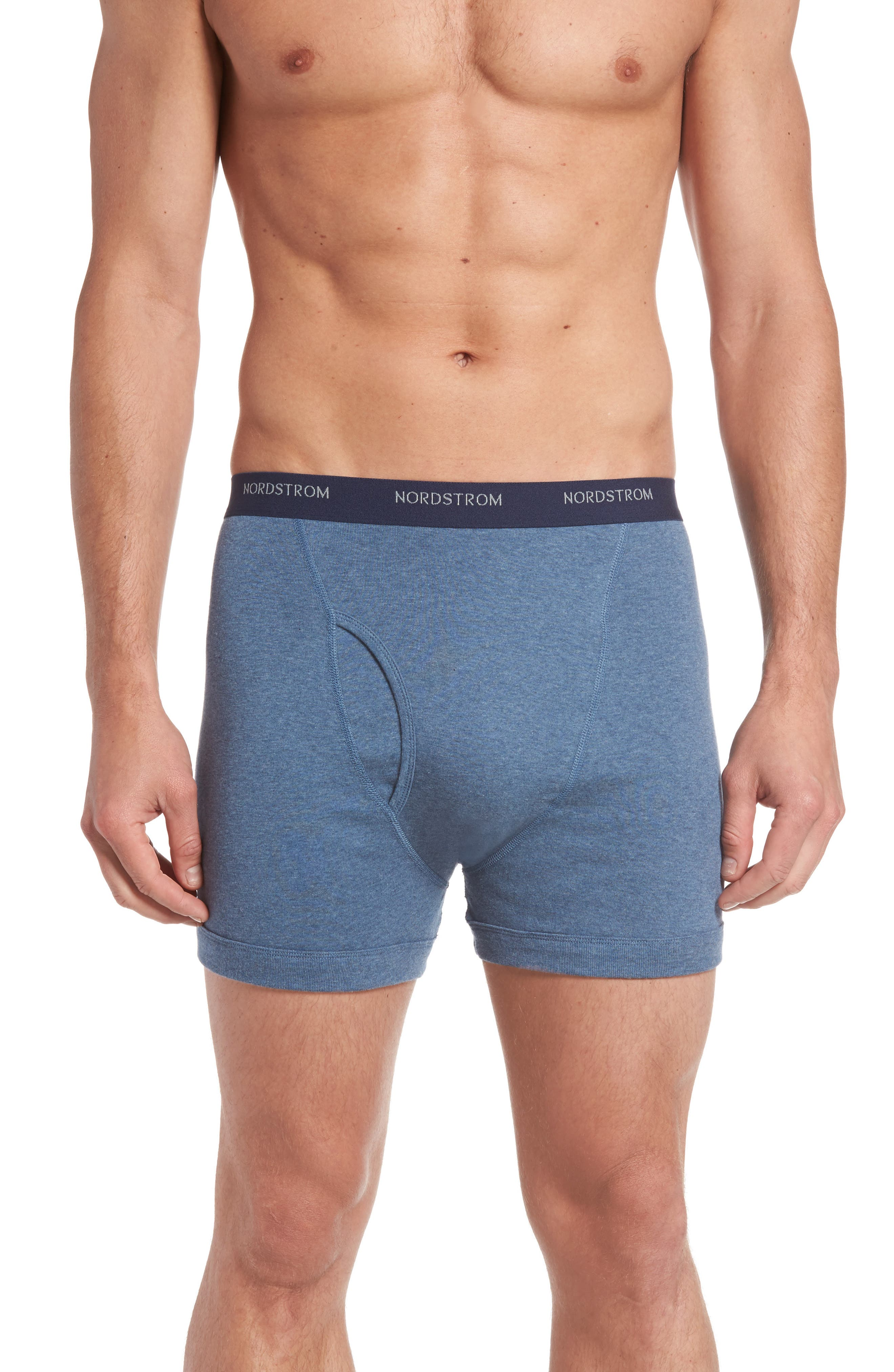 ,                             3-Pack Supima<sup>®</sup> Cotton Boxer Briefs,                             Alternate thumbnail 2, color,                             NAVY/ CHARCOAL/ BLUE