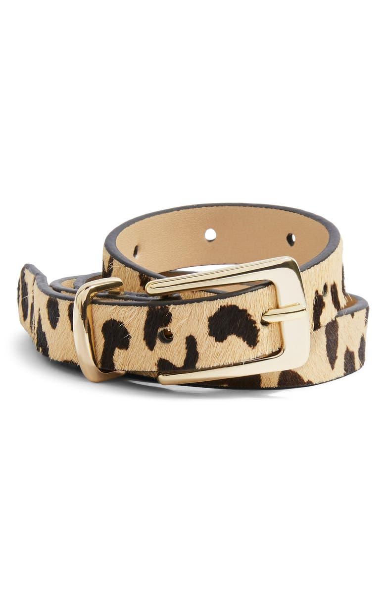Leopard Skinny Belt by Topshop