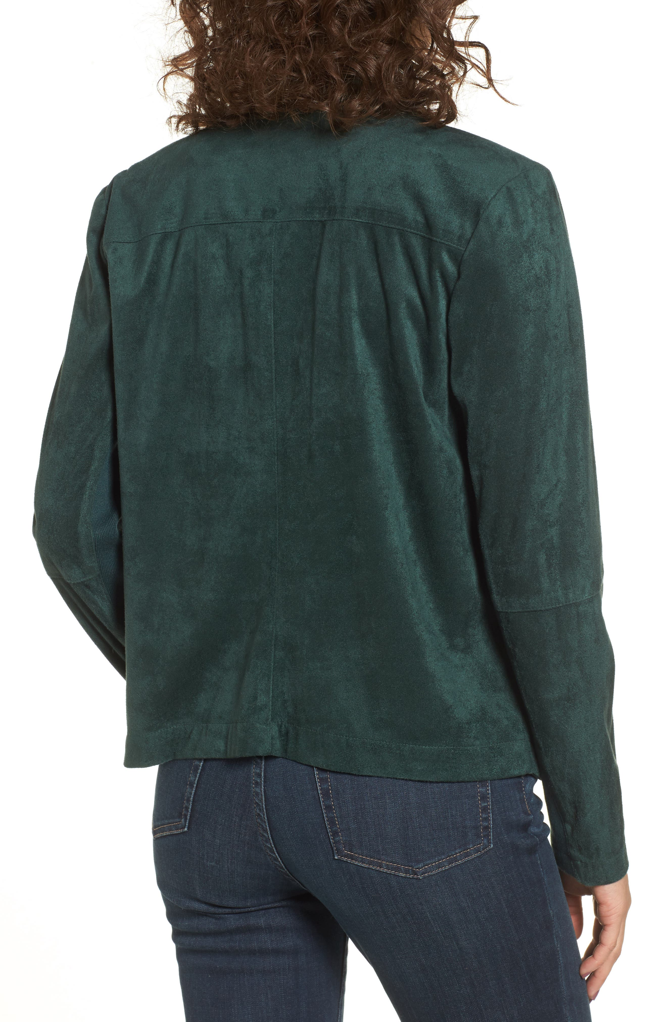 ,                             Nicholson Faux Suede Drape Front Jacket,                             Alternate thumbnail 41, color,                             301