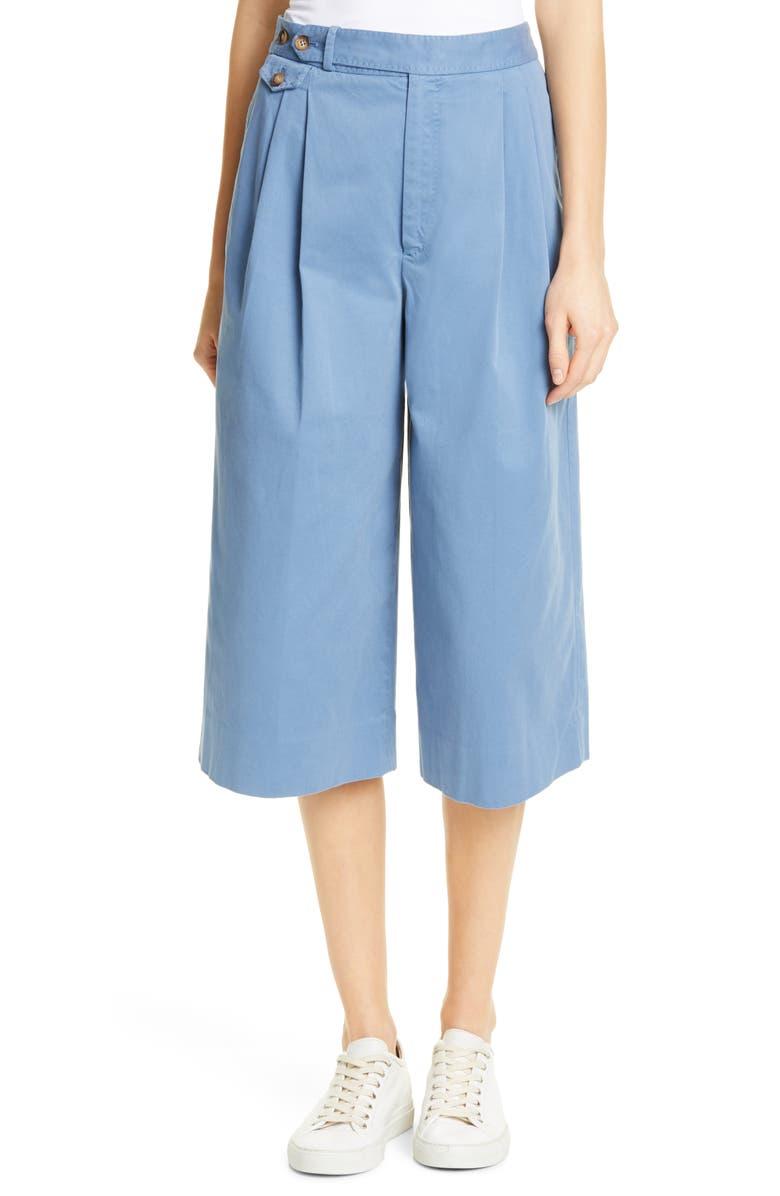 POLO RALPH LAUREN Wide-Leg Crop Pants, Main, color, 400