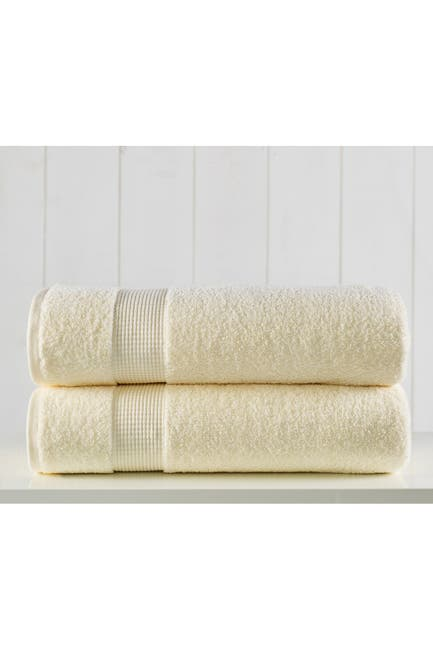 Image of Modern Threads Manor Ridge Turkish Cotton 2 Pack Bath Sheet Set - Ivory
