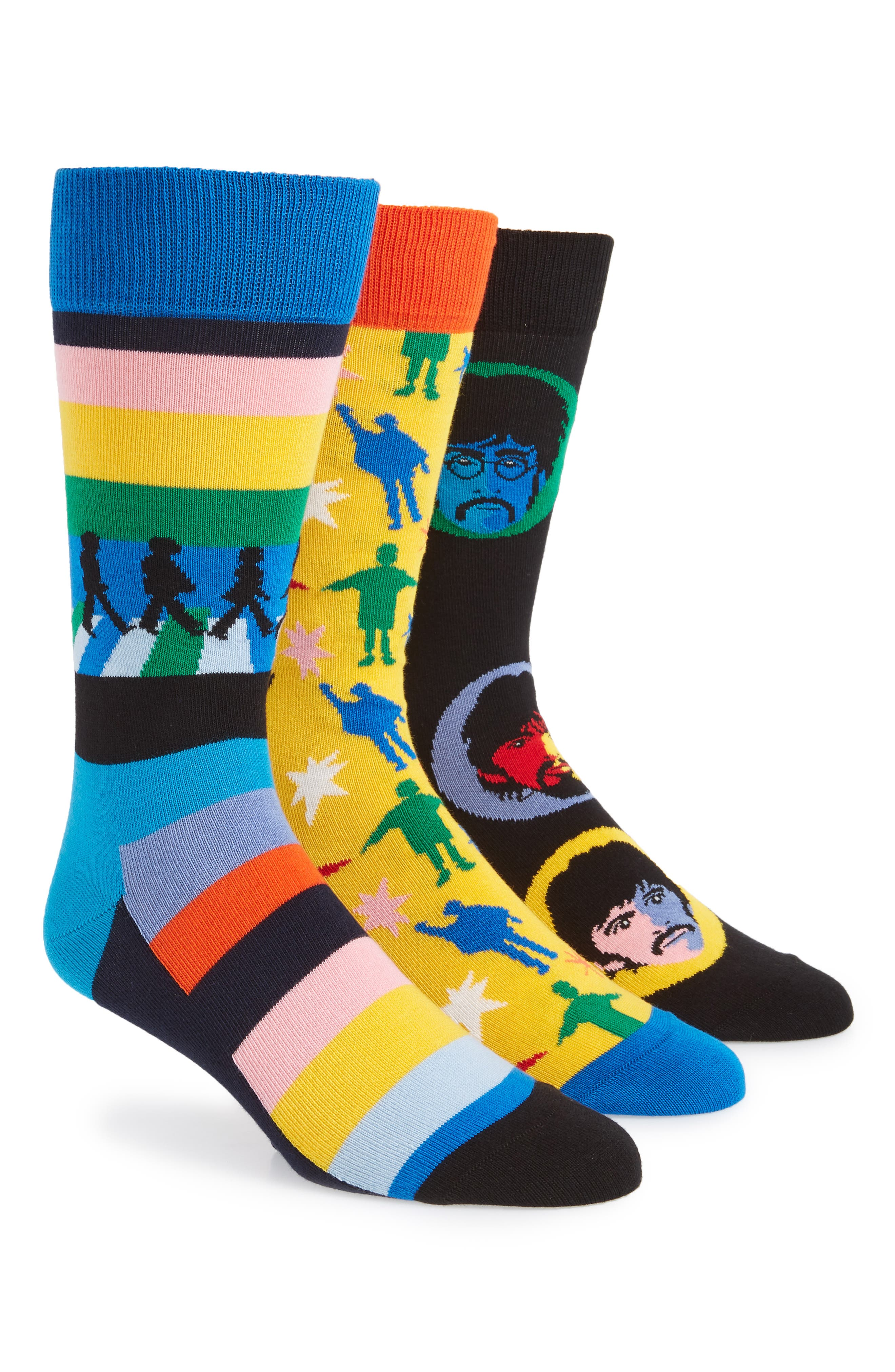 The Beatles Encore Edition 3-Pack Sock Gift Set