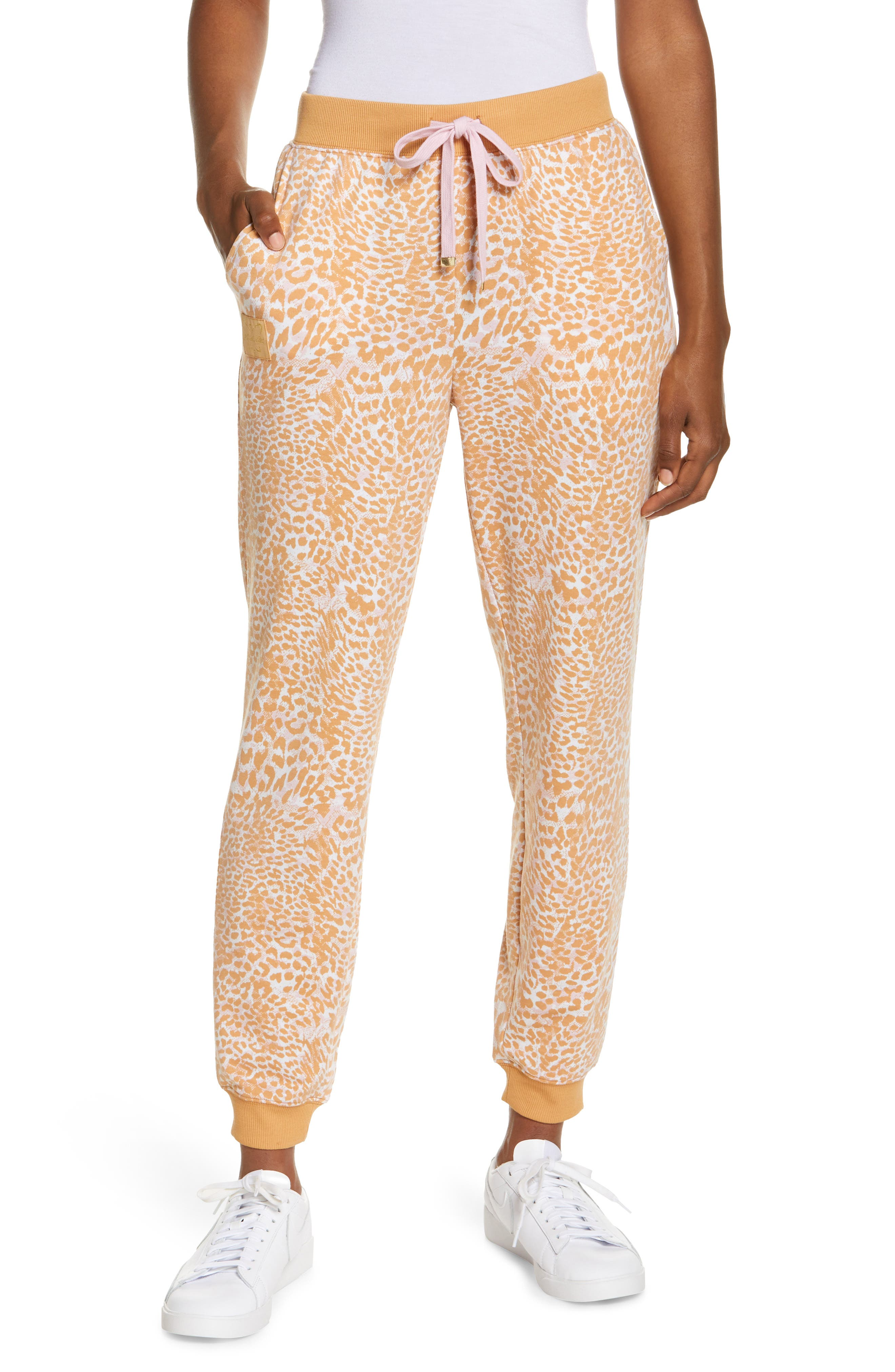 Print Lace-Up Joggers
