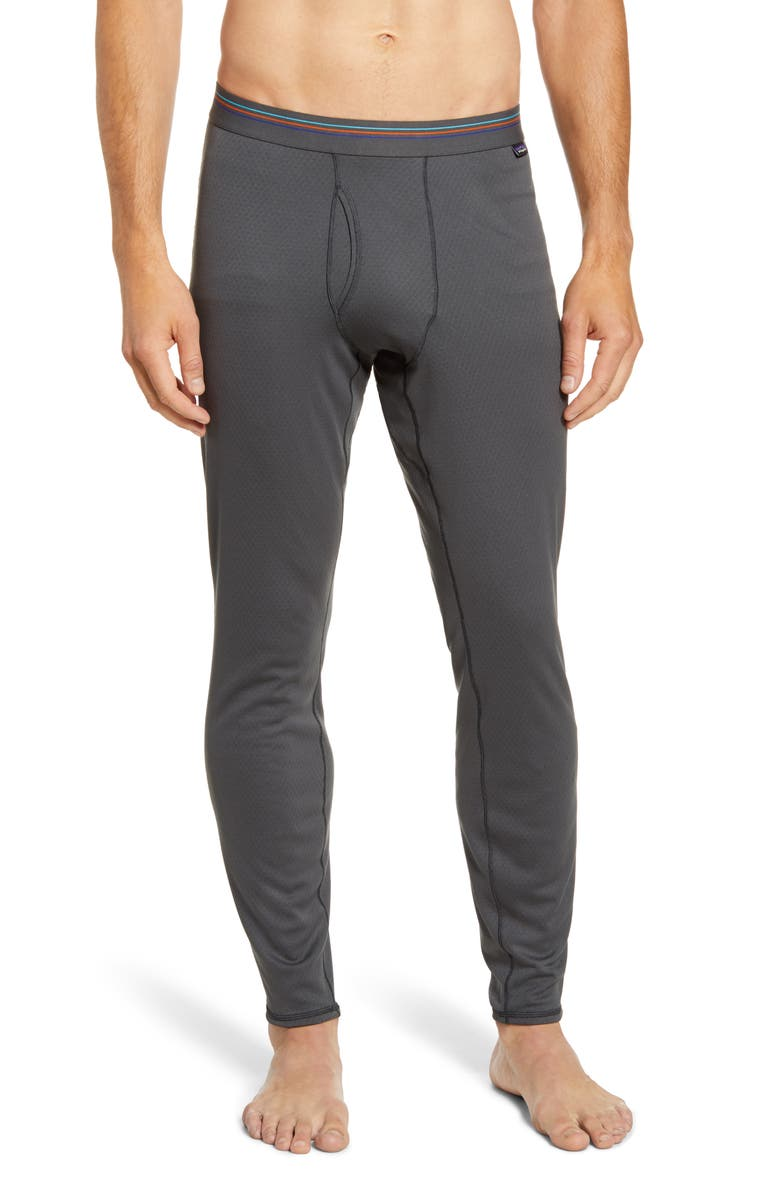 PATAGONIA Capilene<sup>®</sup> Midweight Base Layer Tights, Main, color, FORGE GREY