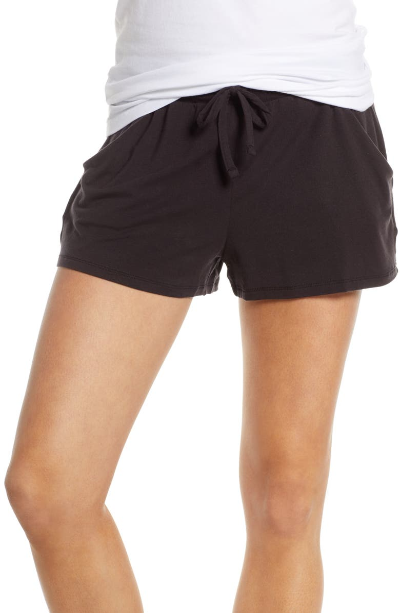 TOMMY JOHN Lounge Shorts, Main, color, BLACK