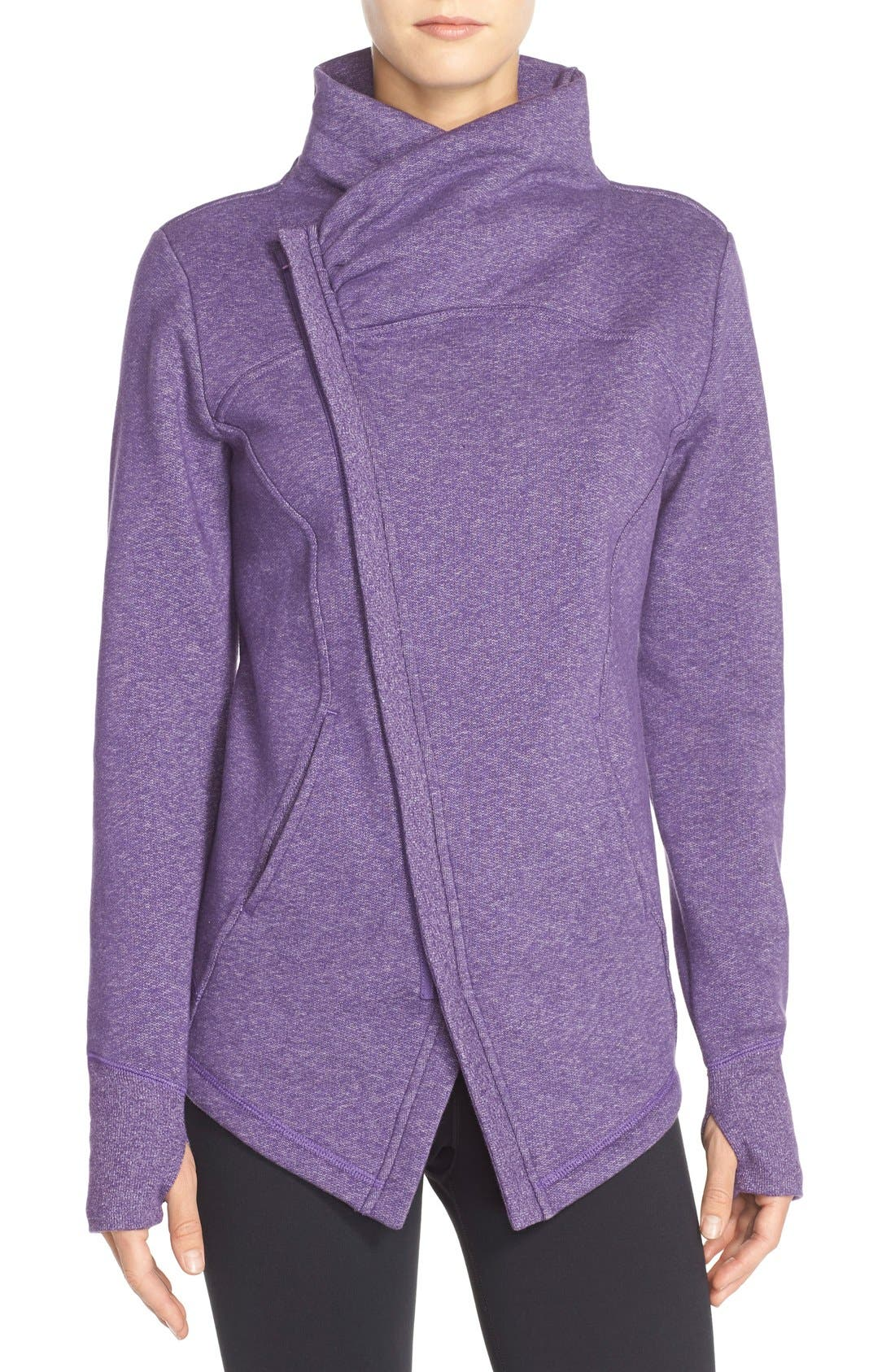 ,                             'Snowdrift' Asymmetrical Zip Sweatshirt,                             Main thumbnail 19, color,                             501