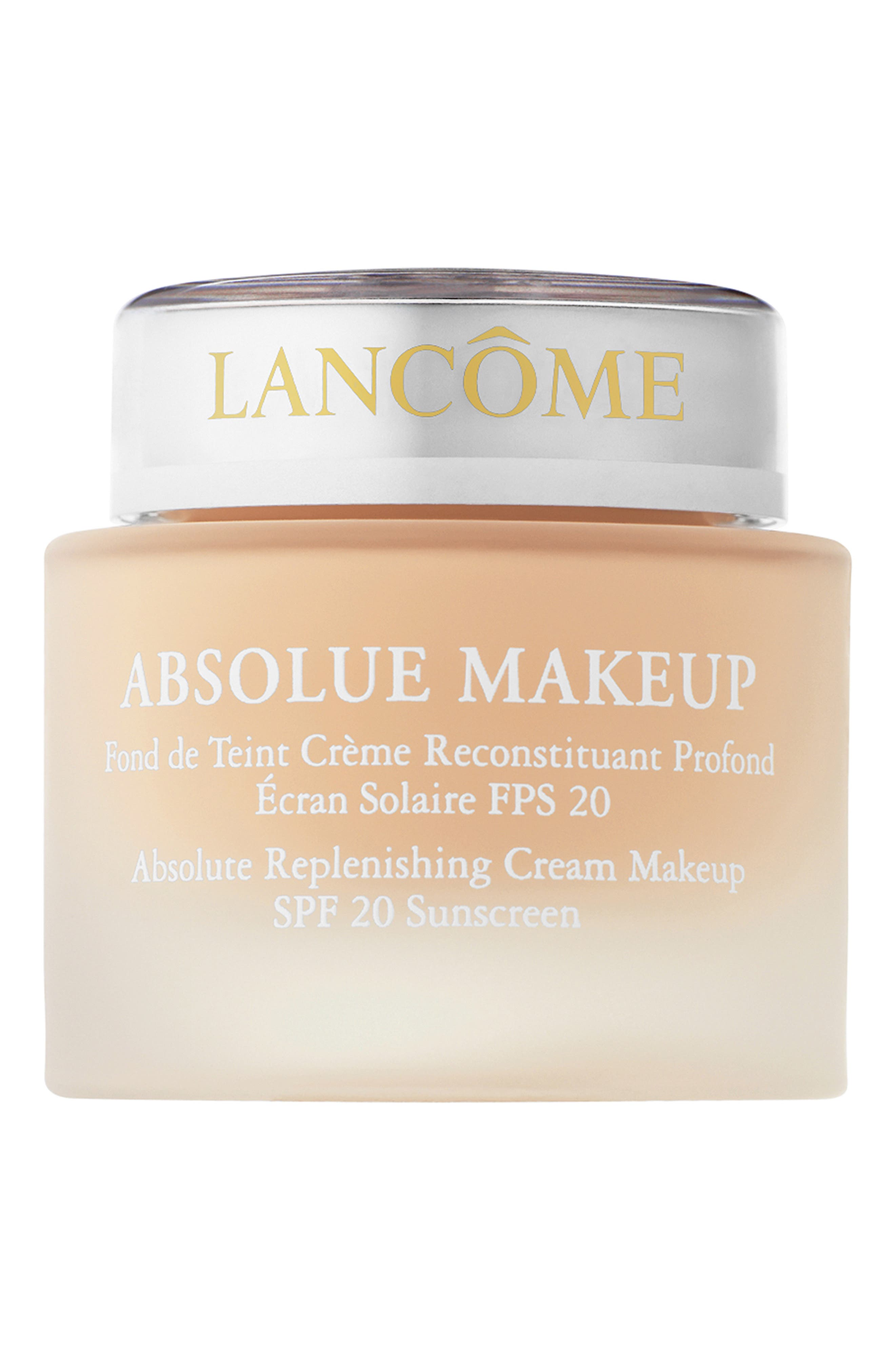 Lancome Absolue Replenishing Cream Makeup Foundation Spf 20 Sunscreen