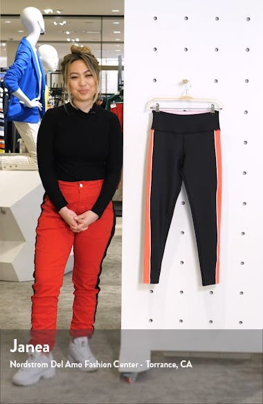 High Waist Colorblock Tights, sales video thumbnail