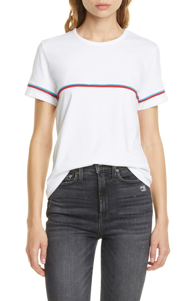 LA LIGNE Petit Garcon Tee, Main, color, WHITE/ BRIGHT BLUE/ RED